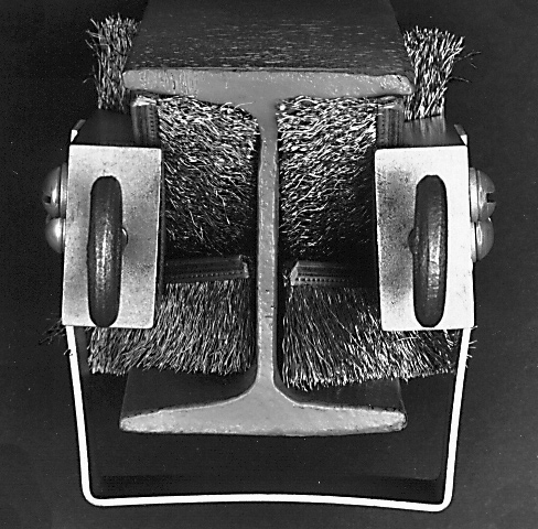 I-Beam-Rail-Brush-Cleaners