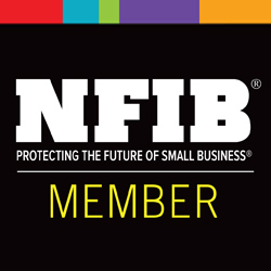 NFIB member badge. Protecting the future of small business